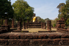 Buddha statue. Ancient Buddha images in temple , Kamphaeng Phet Stock Photography