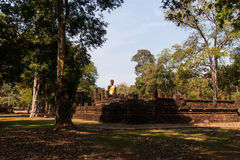 Buddha statue. Ancient Buddha images in temple , Kamphaeng Phet Royalty Free Stock Photo