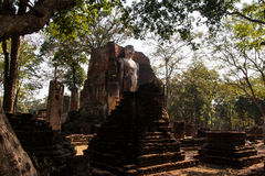 Buddha statue. Ancient Buddha images in temple , Kamphaeng Phet Royalty Free Stock Photography