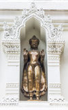 Buddha statue in an Ancient Pagoda, Lamphun Province, Thailand Stock Image
