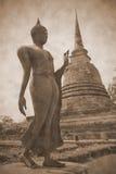 Buddha statue. Ancient buddha statue in sukhothai Thailand Stock Photography