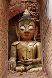 Buddha statue at a ancient temple Royalty Free Stock Photo