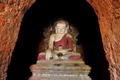 Buddha statue at a ancient temple Royalty Free Stock Image