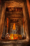 Buddha statue in Angkor Wat temple Stock Image