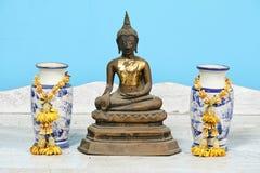 Buddha statue, antique. Antique Buddha statue set, Symbol of buddhism prophet stock photos