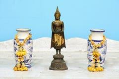 Buddha statue, antique. Antique Buddha statue set, Symbol of buddhism prophet stock images