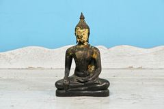 Buddha statue, antique. Antique Buddha statue set, Symbol of buddhism prophet stock image