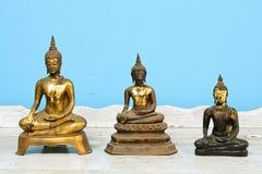 Buddha statue, antique. Antique Buddha statue set, Symbol of buddhism prophet royalty free stock photo