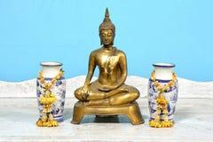 Buddha statue, antique. Antique Buddha statue set. Thailand stock image