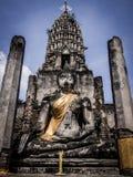 Buddha statue. Archaeological site Sukhothai Kingdom travel thailand Royalty Free Stock Photo