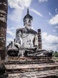 Buddha statue. Archaeological site Sukhothai Kingdom travel thailand Royalty Free Stock Image