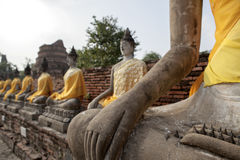 Buddha statue. Buddha Art ancient Ayutthaya period Royalty Free Stock Photos
