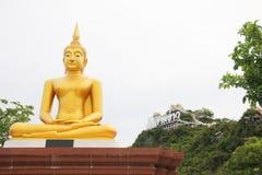 Buddha statue as horizontal on white background Royalty Free Stock Image