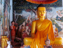 Buddha statue in asian temple Stock Photos