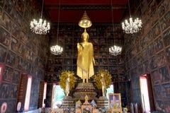 Buddha statue  The attitude of persuading the relatives no. At Wat Kruawan Woravihan, Bangkok noi, Bangkok Thailand Royalty Free Stock Photo