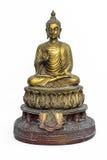 Buddha-Statue auf dem weißen Hintergrund - lokalisiert, Thailand Lizenzfreies Stockfoto