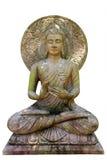 Buddha-Statue auf weißem Hintergrund Stockbild