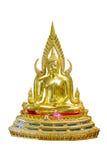 Buddha-Statue auf weißem Hintergrund Stockbilder