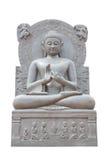 Buddha-Statue auf weißem Hintergrund Lizenzfreies Stockfoto