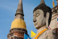 Buddha statue in Ayudhaya province Thailand Royalty Free Stock Photos