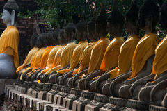 Buddha statue in Ayudhaya province Thailand Stock Photo