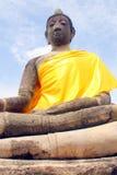 Buddha-Statue Ayuthaya, Thailand Lizenzfreies Stockfoto
