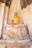 Buddha statue in Ayuthaya Royalty Free Stock Photo