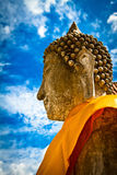 Buddha statue of Ayuthaya, Thailand. A traditional and peaceful Buddha statue from Ayuthaya, Thailand Stock Photography