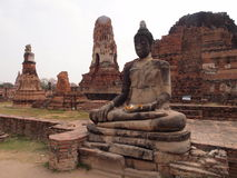 Buddha statue in ayutthaya Stock Photography