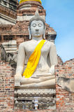 Buddha Statue at Ayutthaya city. In thailand Stock Image