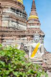 Buddha Statue at Ayutthaya city. In thailand Royalty Free Stock Photography