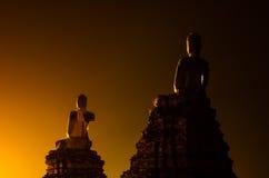 Buddha statue. At ayutthaya,  thailand Royalty Free Stock Photo