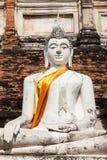 Buddha of statue in Ayutthaya Thailand Asia Stock Image