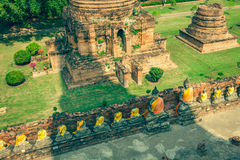 Buddha of statue in Ayutthaya Thailand Asia Royalty Free Stock Photo