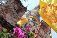 Buddha Statue at Ayutthaya, Thailand Stock Image