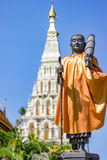 Buddha statue. The Buddha statue on the back is a pagoda in Thailand Temple royalty free stock photo