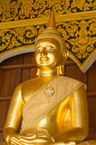 The buddha statue in Ban Den temple,Thailand royalty free stock image