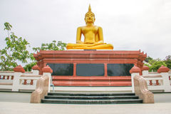 Buddha statue with base as horizontal Royalty Free Stock Photography