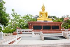 Buddha statue on the base Stock Photo
