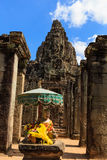Buddha Statue in Bayon Temple Royalty Free Stock Photography