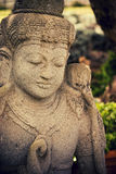 Buddha Statue. A beautiful stone statue of Buddha in Maui Royalty Free Stock Images