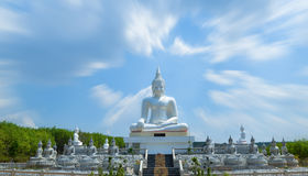 Buddha statue. Beautiful white buddha statue Sitting Royalty Free Stock Photography