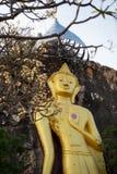 Buddha-Statue befestigt mit Hügel Lizenzfreies Stockfoto