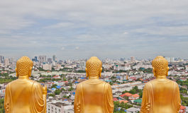 Buddha statue from behind Stock Images