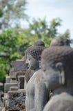 Buddha-Statue bei Borobudur Lizenzfreie Stockfotos