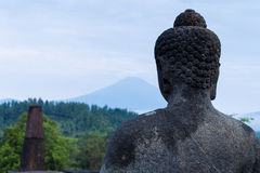 Buddha-Statue bei Borobudur Lizenzfreies Stockbild