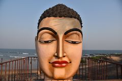 Buddha-Statue bei Vishakhpatnam Stockbilder