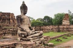 Buddha-Statue bei Wat Maha That, Ayutthaya, Thailand Stockbilder