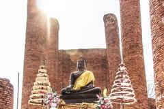 Buddha-Statue bei Wat Thammikarat stockfotografie