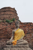 Buddha-Statue bei Wat Yai Chai Mongkon Stockbilder